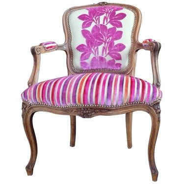 Louis XV chair re-upholstered- I've always wanted a chair like this!!