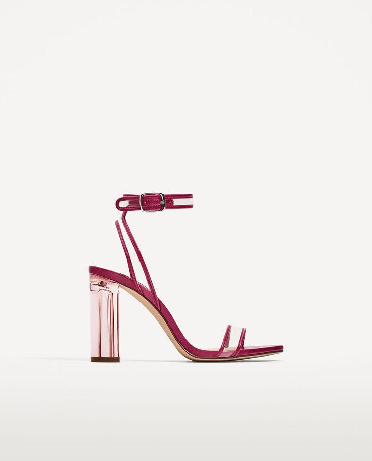 Image 2 of VINYL HIGH HEEL SANDALS from Zara