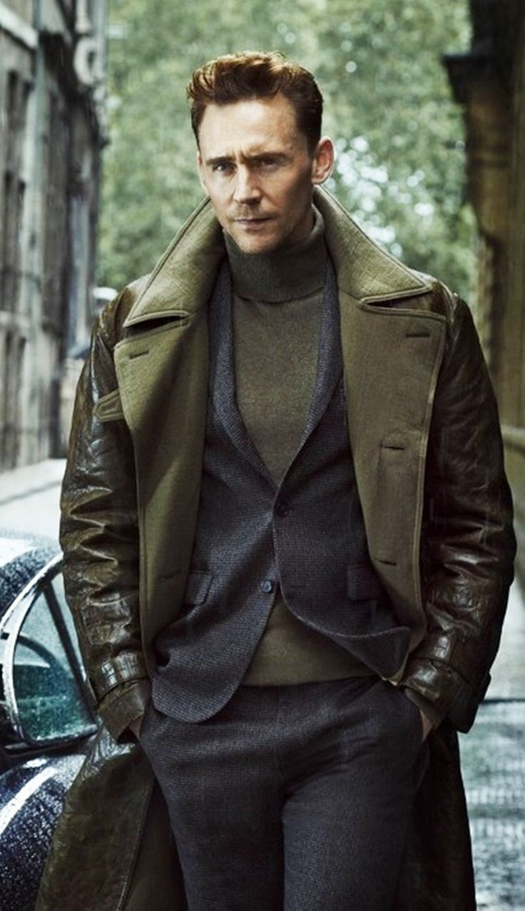 You know he's a man's man when #TomHiddleston shows up in your fashion boards unannounced.