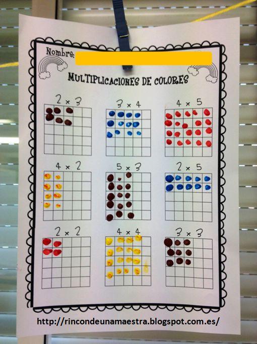 He visto muchas ideas en Pinterest para trabajar las tablas de multiplicar y como estamos empezando de lleno con ellas, no he dudado en llev...