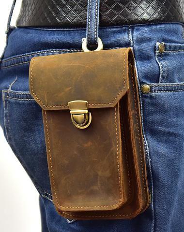 7941f2dbef MEN LEATHER Belt Pouch WAIST BAG HIP PACK BELT BAG FANNY PACK BUMBAG ...