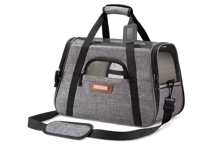 Pet Carrier / Crate Airline Approved Under Seat for Small Dogs and Cats - Soft Sided Portable Airplane Travel Tote Bag with 2 Fleece Pads By: SLEEKO *** Hurry! Check out this great product(This is an affiliate link and I receive a commission for the sales) : Cat Cages, Carrier and Strollers