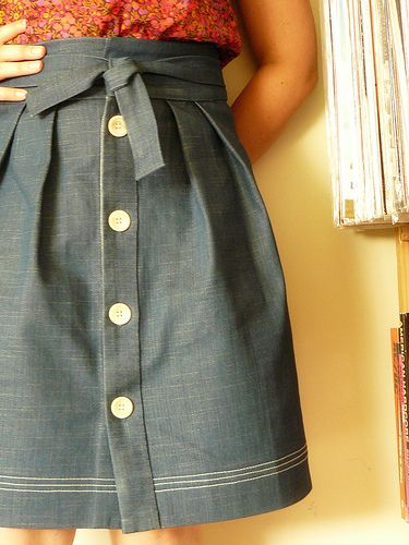 Love this skirt: Pattern: Tulip skirt from Wiksten Fabric: Denim