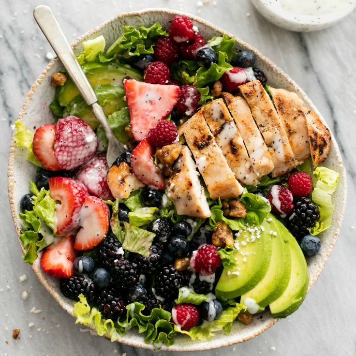 Easy and healthy Berry Avocado Grilled Chicken Salad is a cinch to whip up in just 30 minutes with incredible flavors and textures!