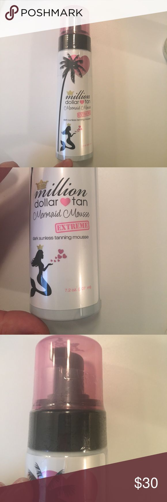 New million dollar tan tanner Million dollar tan mermaid mousse extreme dark tanner. 7.2 oz. never opened. One of my favorite self tanners! Make an offer  bundle & save  Nordstrom Makeup Foundation