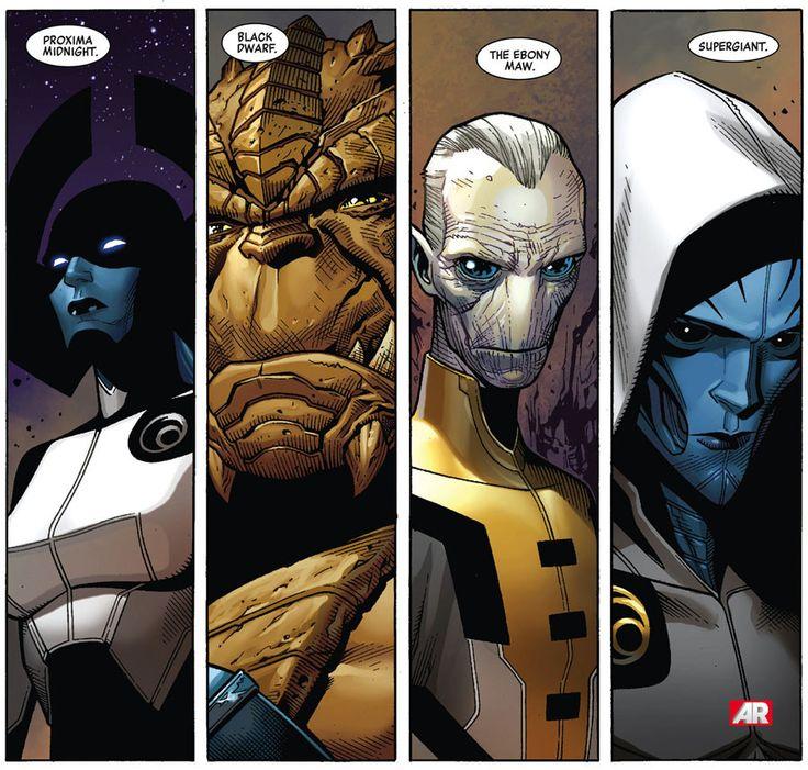 The Black Order of Thanos minus Corvus Glaive