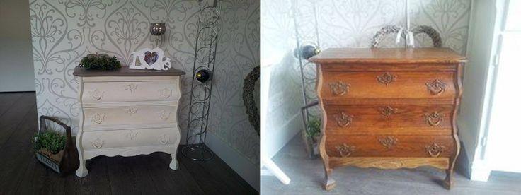 Shirly heeft haar buikkastje gaaf gedaan met annie sloan krijtverf woonkamer pinterest met - Verf haar woonkamer ...