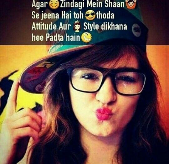 Attitude girl with style
