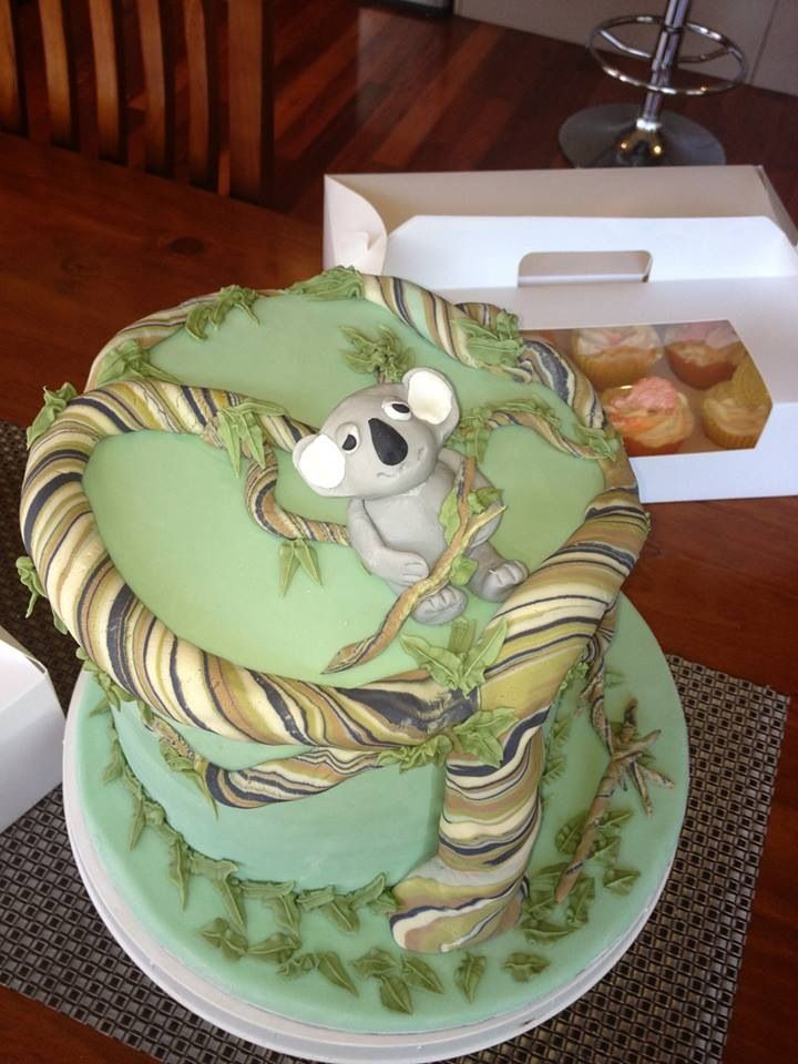 Mark from The Great Australian Bake Off, A close up of his finished Koala cake!!!  #GABO