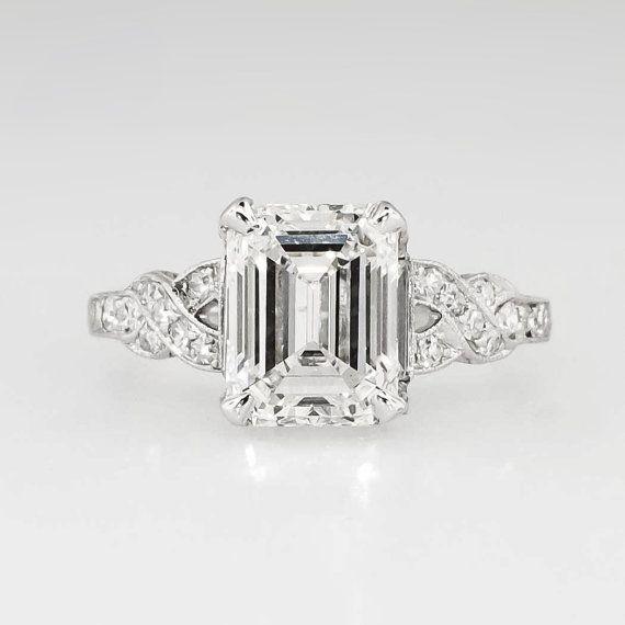 Art Deco 1930's 2.90ct t.w. Emerald Cut by YourJewelryFinder