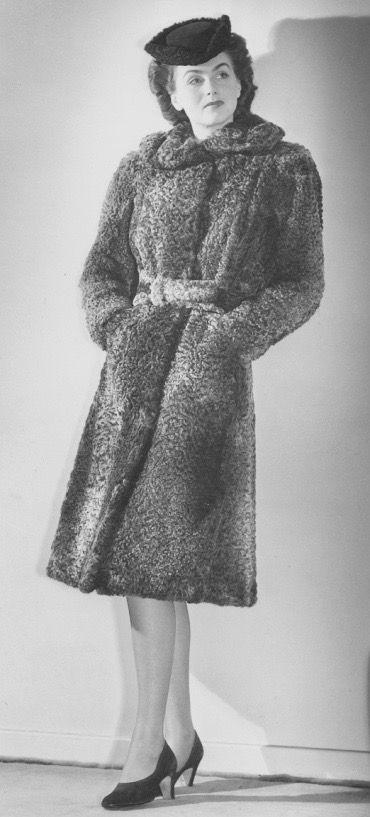 Pin on 1940s Fur