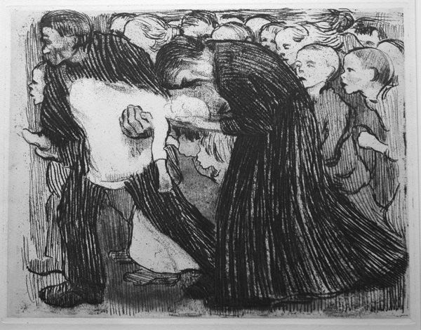 Käthe Kollwitz, Run Over, 1913