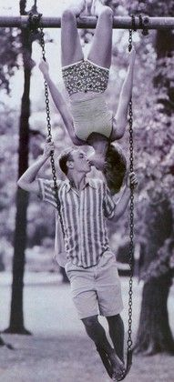 on a swing couples photo idea.