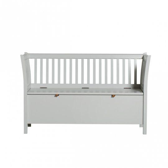 Kökssoffa / slagbänk 131 cm grå, Oliver Furniture