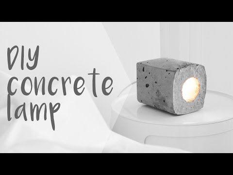 DIY Concrete Block Lamp // Rachel Aust - YouTube
