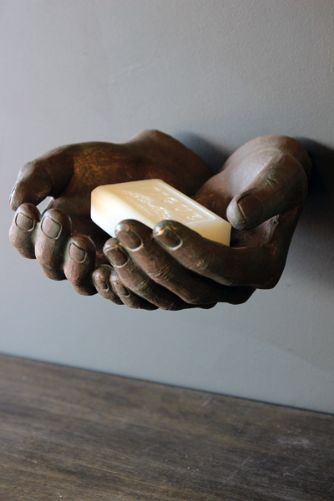 Wall Mounted Giving Hands. Giving me the creeps hands.