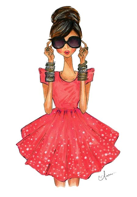 """Anum Tariq illustration~❥ """"What better way to celebrate life than with beautiful nails, your best heels and of course a cocktail?"""" -Marsha B. TheGlamNailtour.com"""