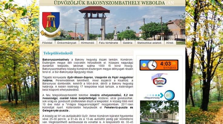 Bakonyszombathely község oldala