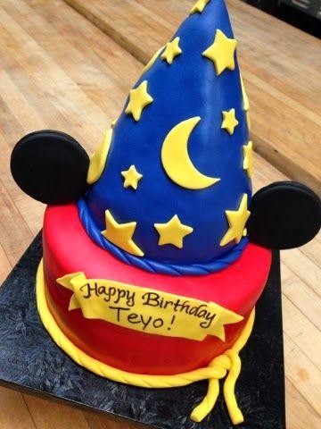 Plumeria Cake Studio: Sorcerer Mickey Birthday Cake