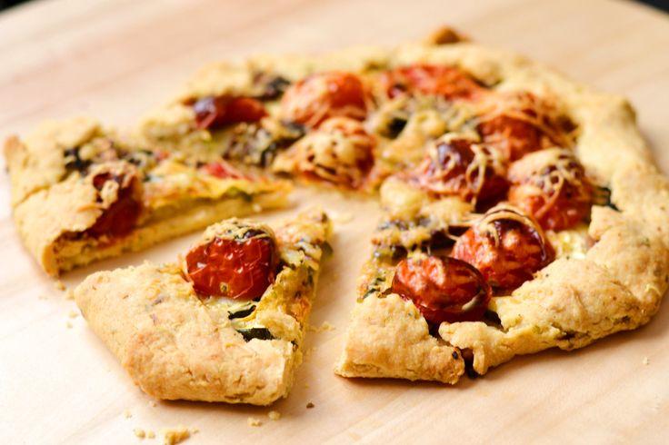 Cukkinis-paradicsomos francia pite recept (galette)