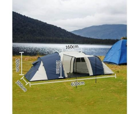 12 Person Camping Tent with 2 rooms & living room FREE SHIPPING IN AUS