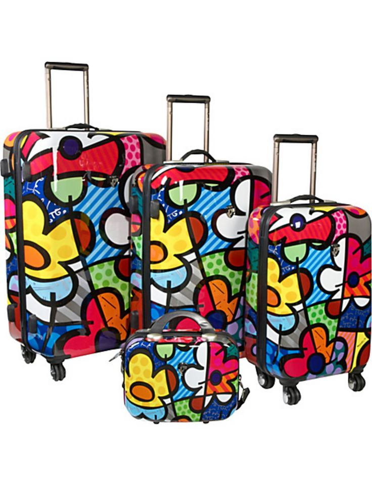 How fun! We love this luggage set from the Britto Collection for all of your travels.