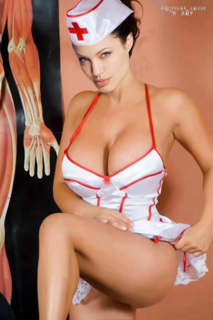 Angelina Jolie As A Sexy Nurse  Famous  Pinterest  Sexy, Happy And Pants-2435