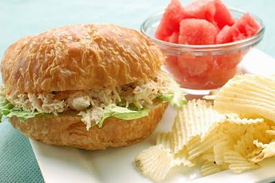 """Bacon and Ranch Chicken Salad Croissants ~ """"Or so she says..."""" Blog"""