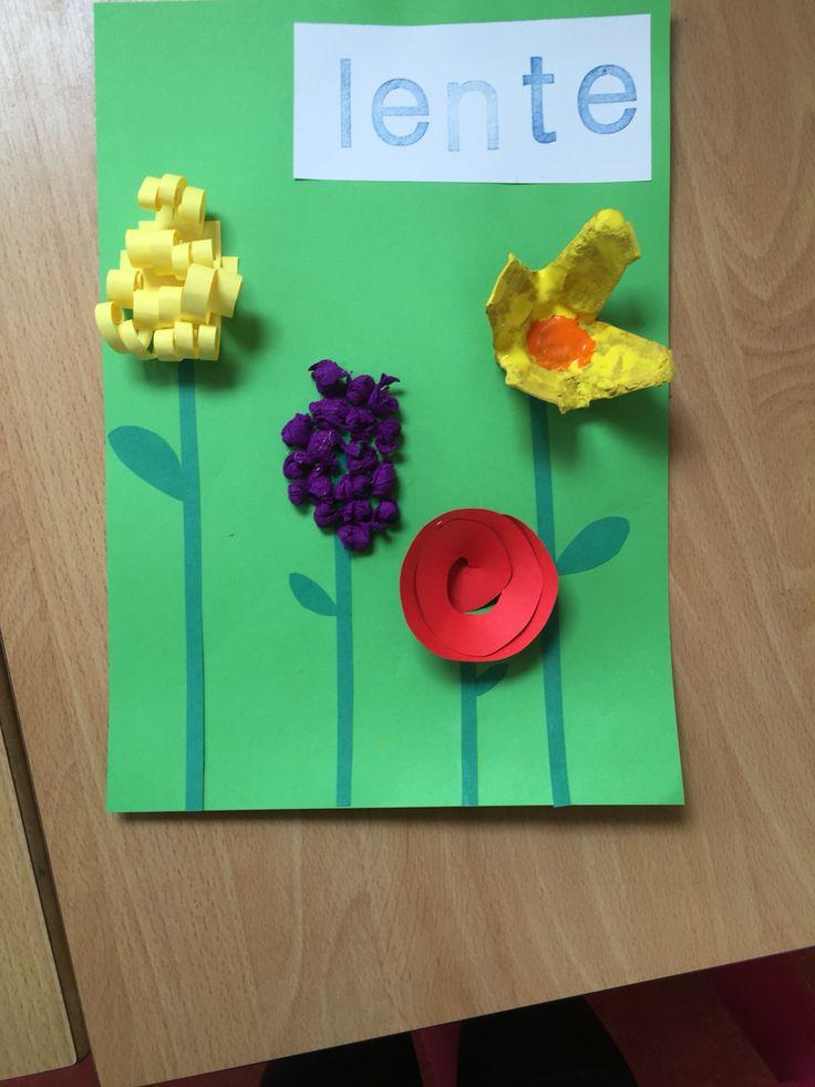 Lente knutsel groep 3, verschillende bloemen maken