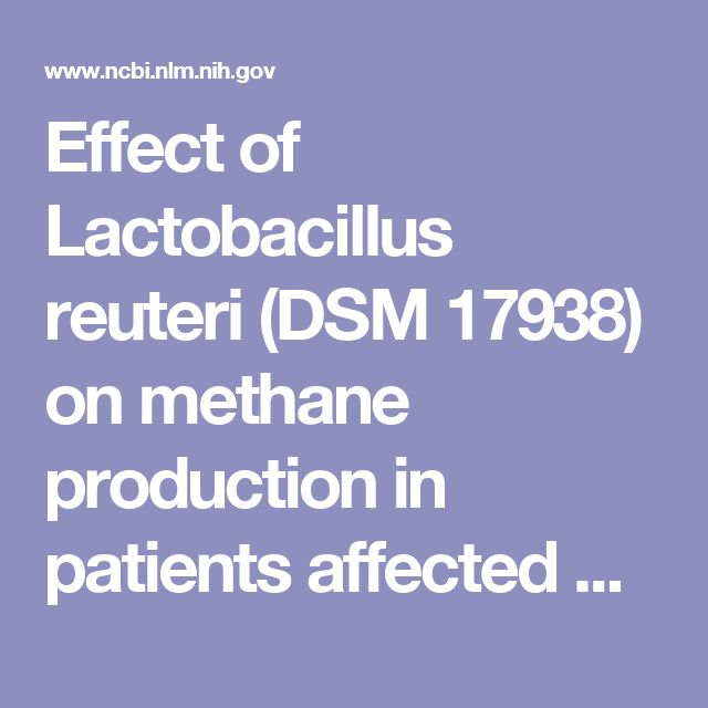 Effect of Lactobacillus reuteri (DSM 17938) on methane production in patients affected by functional constipation: a retrospective study.  - PubMed - NCBI