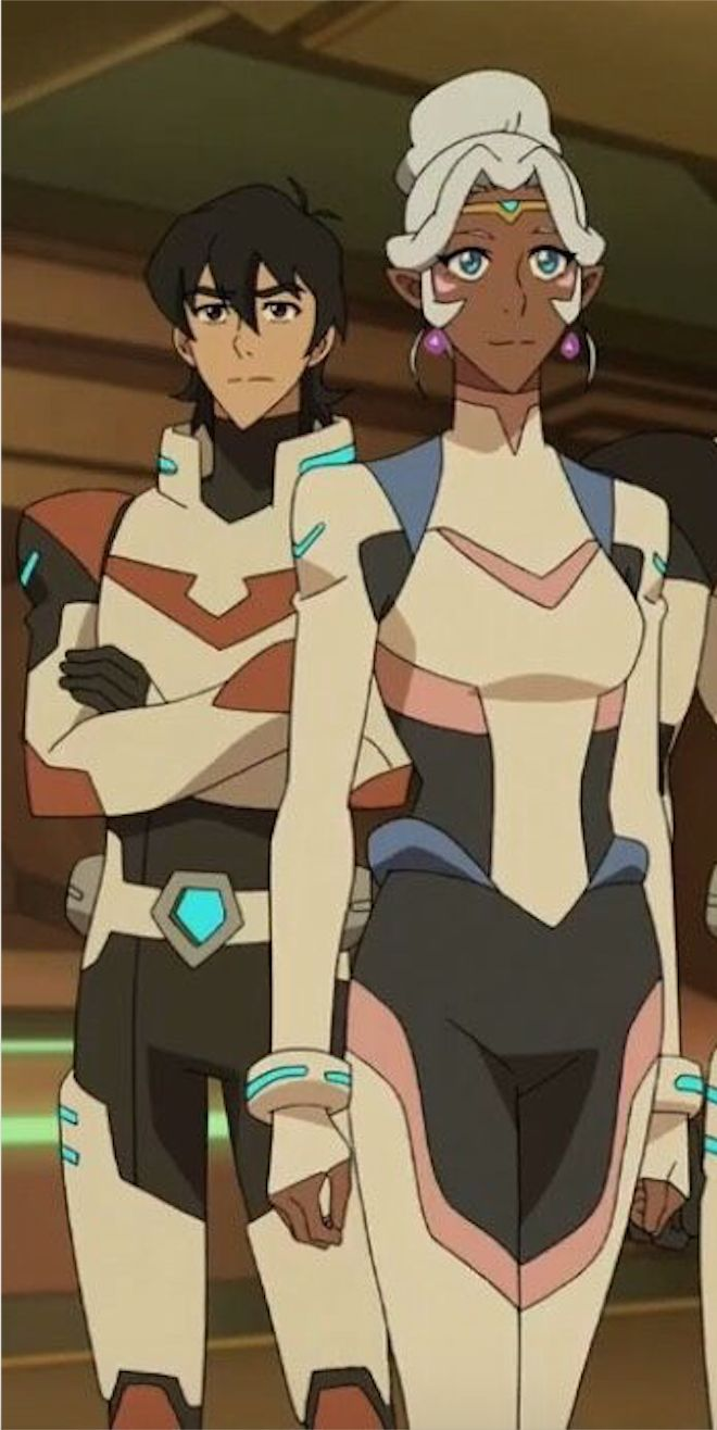 Keith and Princess Allura from Voltron Legendary Defender