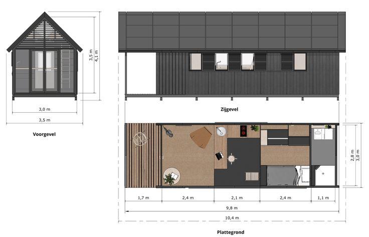 Waarom dit slimme huisje is gemaakt van sterke deuren | cobouw.nl,Met ruim 3 meter is het huisje net wat breder dan een zeecontainer, april 17