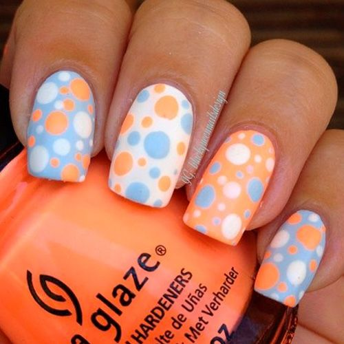 Polka Dots are so much fun so we decided to find 34 of the Best Polka Dot Nail Designs we could find. Below you will see a vast variety of colors and designs that keep us inspired. All with a hint of polka dots. Enjoy!