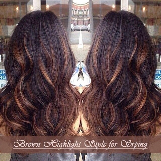 medium brown with highlights indian remy hair extensions-hs05b3027s