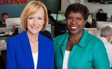 """A meeting with Democratic Sen. Elizabeth Warren turned attention back to the question of whether Vice President Joe Biden will run for president in 2016. Amy Walter of the Cook Political Report and Tamara Keith of NPR join Judy Woodruff to discuss a Biden bid, whether Sen. Bernie Sanders is lacking support among African-Americans, plus how the Trump """"bump"""" is affecting GOP candidates."""