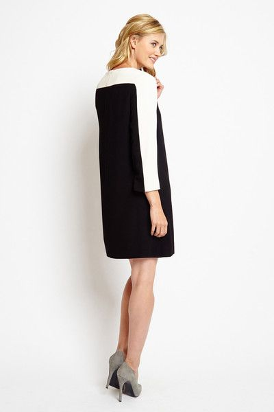 Of Mercer | Stanton Colorblock Dress | Back View