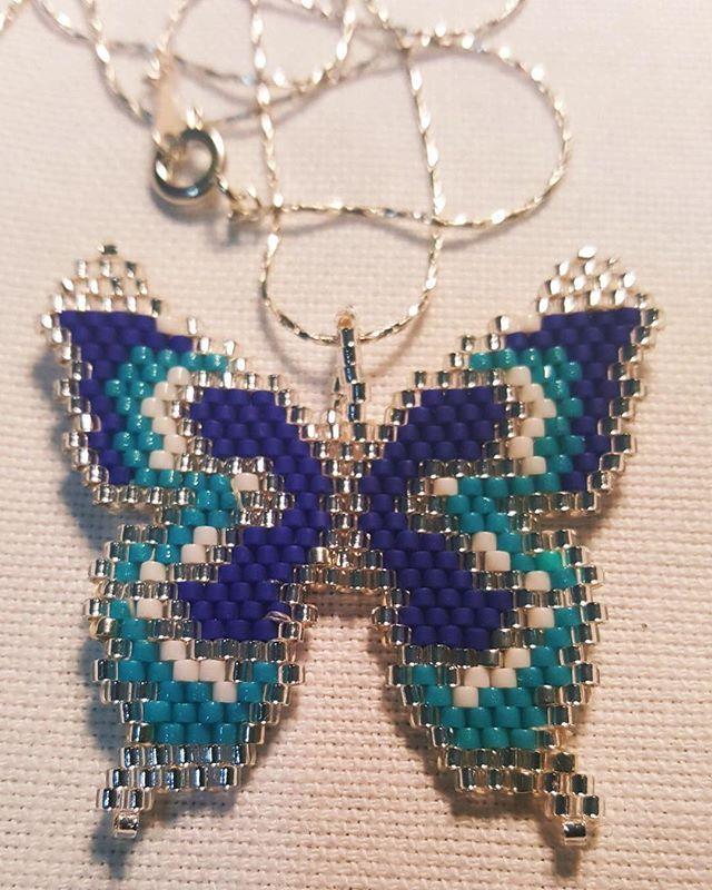 #kelebek #miyuki #miyukidelica #handmade #handmadejewelry #boncuk #mavi #hobby #kolye #moda #fashion #satılık #sipariş #özel