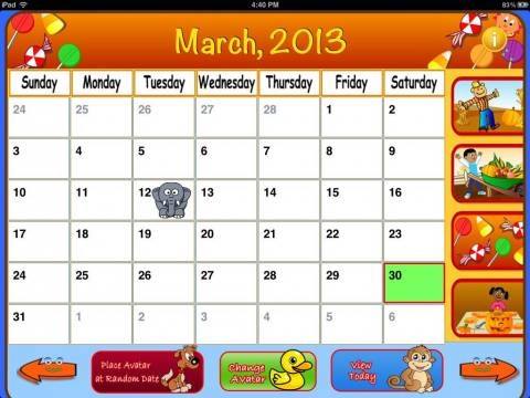 Calendar Trainer [iPad]. All new apps for kids updated daily: http://www.appysmarts.com/publisher/news.php?age=0=0=0,4=0