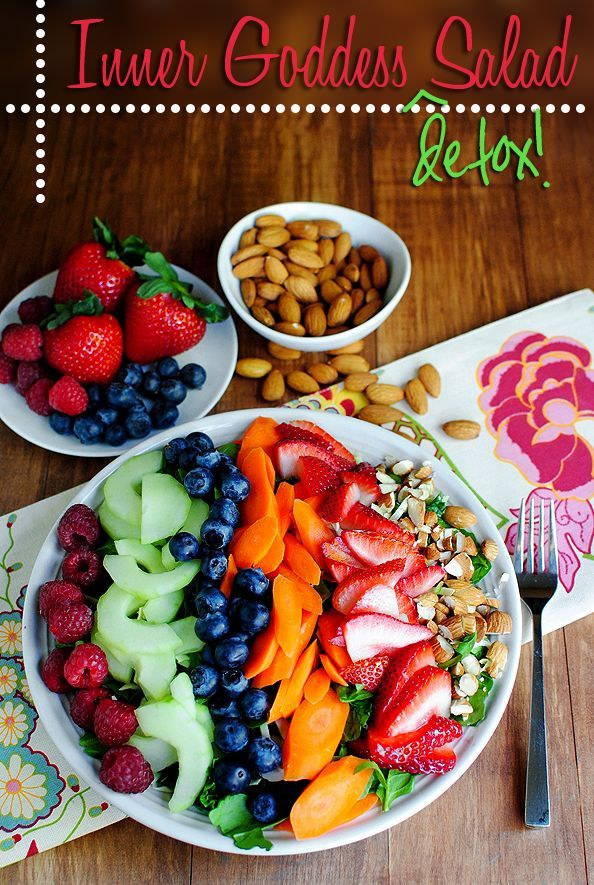 Inner Goddess Detox Salad is chock full of body cleansing, toxin eliminating, and skin brightening ingredients.: Salad Recipes, Brightening Ingredients, Toxin Eliminating, Skin Brightening, Detox Salad, Summer Salad, Goddess Detox