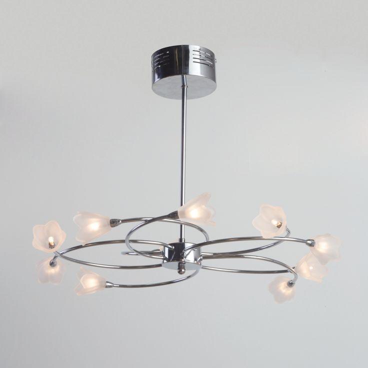 Litecraft Cagiliari 10 Light Semi Flush Chrome Ceiling