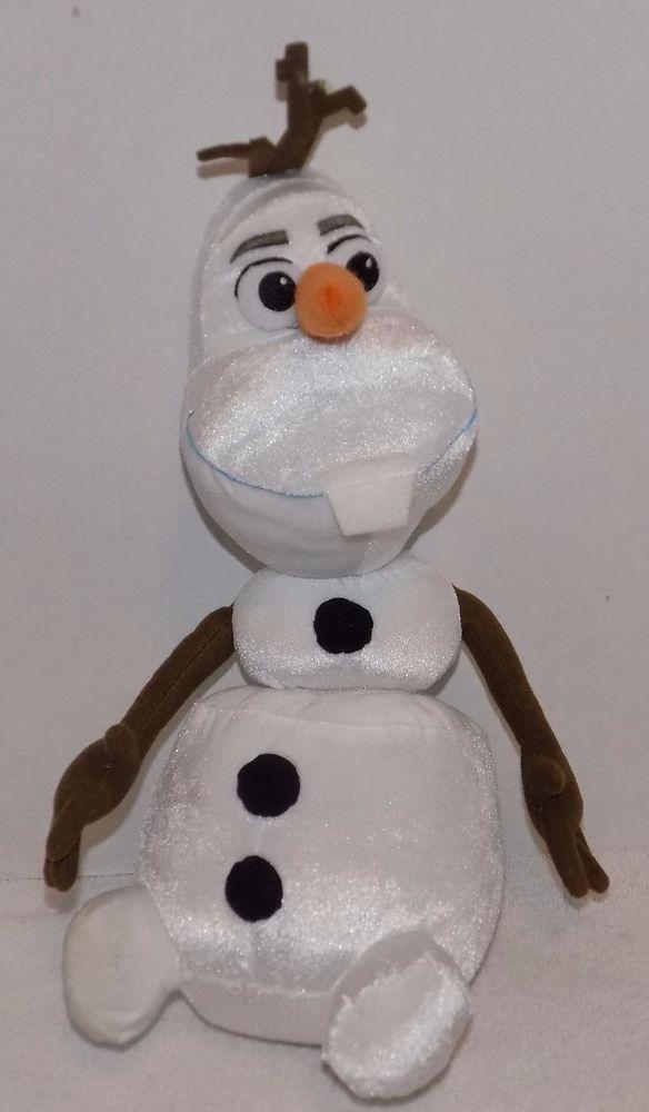 "14"" DISNEY FROZEN Pull Apart TALKING Olaf SNOWMAN Works Great! 28 #Disney"