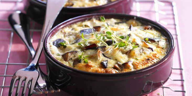 Clafoutis d'aubergine, facile, rapide et pas cher : recette sur Cuisine Actuelle