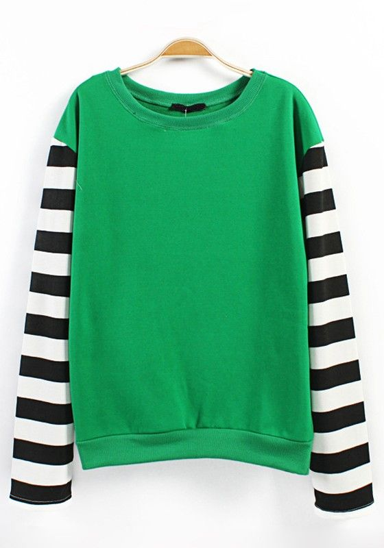 Multicolor Patchwork Striped Print Long Sleeve Knit Sweater