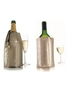 Vacu Vin Active Wine and Champagne Cooler, Platinum