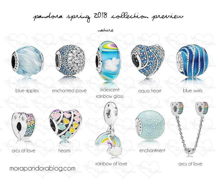 Pandora Spring 2018 collection preview | Mora Pandora - The rainbow and the Murano glass charms are my absolute favorite