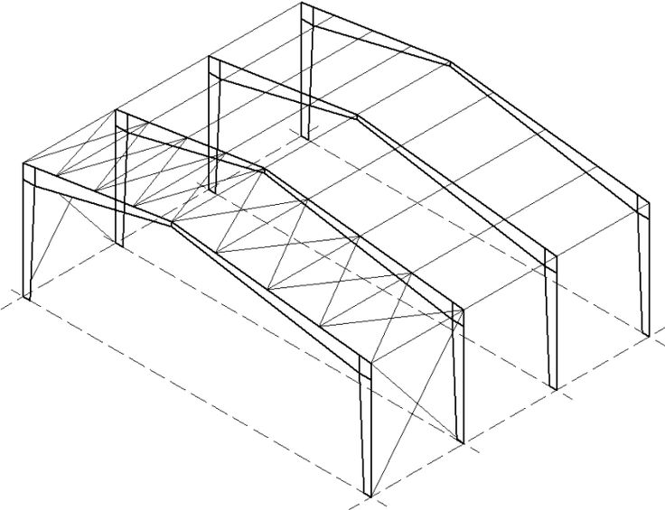 horizontal bracing   a horizontal truss system which distributes lateral forces  caused by wind