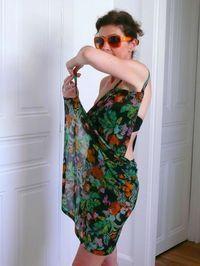 tuto robe pareo à bretelles pour dessus de maillot de bain