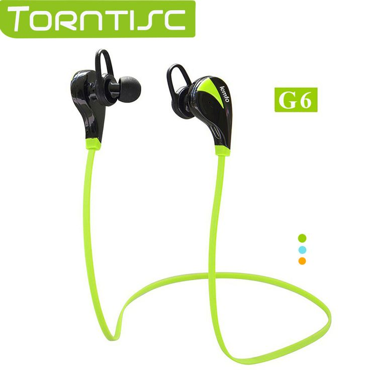 Torntisc Bluetooth Headset Stereo Wireless Sweat proof Sports Running Hands Free In Ear Earbud Earphones with Microphone
