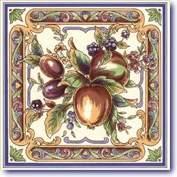 Victorian Fruits Designs on Tiles