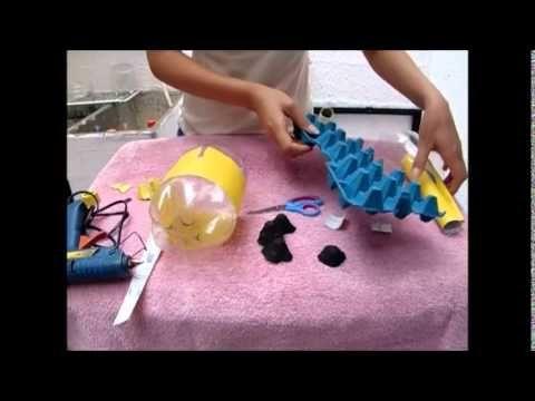 Tutorial como hacer alcancia de cochino en botella plástica